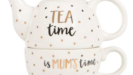 Čajová konvice se šálkem Sass & Belle Mum Time