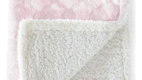Růžová dětská deka Tanuki Estrellas, 80x110cm