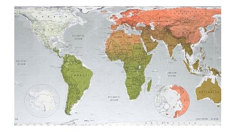 Mapa světa The Future Mapping Company Future Map, 101x58cm