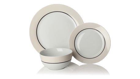 12dílná sada nádobí z porcelánu Sabichi Oslo