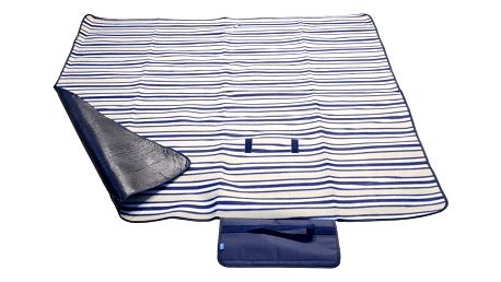 Modrá pikniková deka Cattara Fleece, 150 x 135 cm