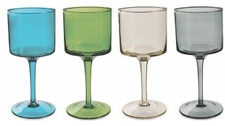 Sada 6 barevných sklenic na víno Villa d'Este Cromie, 450ml