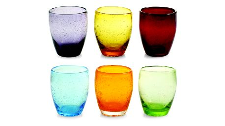 Sada 6 barevných skleniček Villa d'Este Rainbow, 280ml