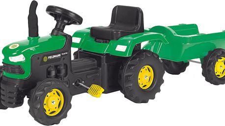 BUDDY TOYS Šlapací traktor s vozíkem