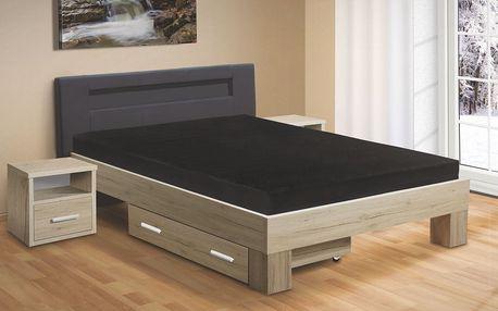 Manželská postel MEADOW 200x160 vč. roštu a matrace