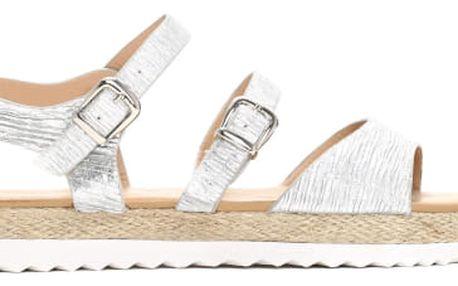 Dámské stříbrné sandály Farida 3074