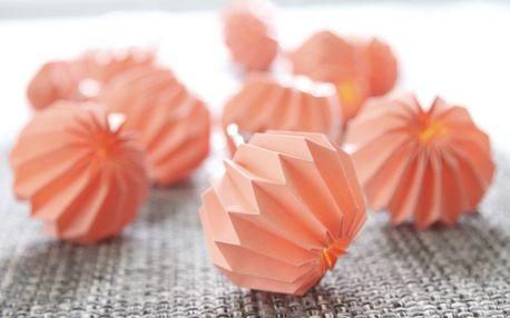 STAR TRADING Světelný řetěz s papírovými lampiony Pink, růžová barva, oranžová barva, plast, papír