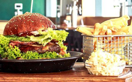 2× burger ze 7 verzí i s Coleslawem a hranolky