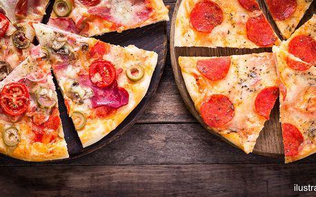 2 pizzy s rozvozem po vybraných lokalitách Brna