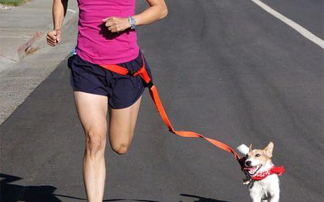 Vodítko s opaskem pro běhání se psem