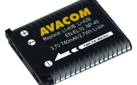 Akumulátor pro video/foto Avacom pro Olympus Li-40B/Li-42B/Fujifilm NP-45/Nikon EN-EL10 Li-ion 3,7V 740mAh (DIOL-LI40-AVA)