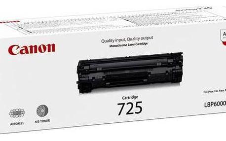 Canon CRG-725, 1,6K stran, originální (3484B002) černý