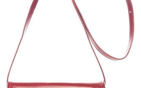 Červená kožená kabelka Lisa Minardi Laura
