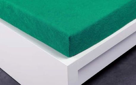 XPOSE ® Froté prostěradlo Exclusive - zelenkavá 120x200 cm