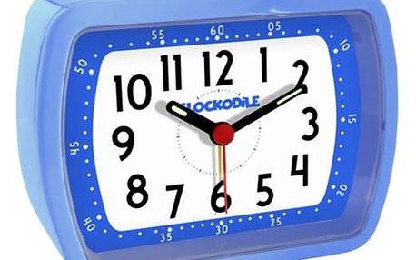 CAT2010 Budík Clockodile Wake up!, modrá
