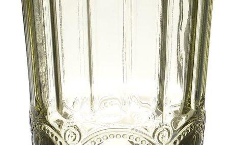 Sada 6 zelených sklenic na vodu InArt Enigma