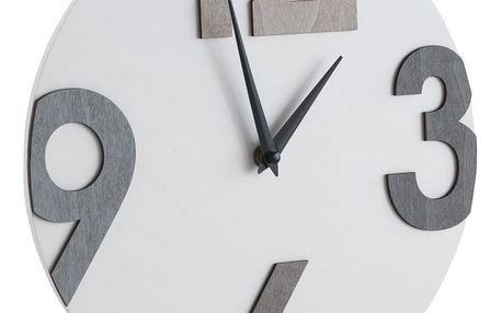 Bílé nástěnné hodiny Geese Timey