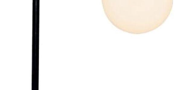 Černá stolní lampa s dřevěným podstavcem Valetta
