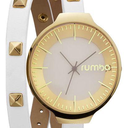 Dámské bílé hodinky s dvojitým páskem Rumbatime Orchard