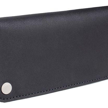 Černá kožená peněženka Woox Triviala Ater
