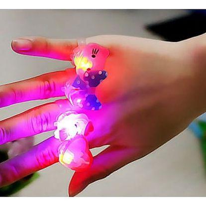 Dětské svítící prstýnky 5 ks
