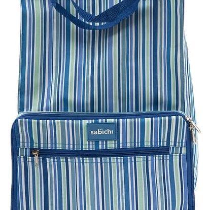 Modrá taška na kolečkách Sabichi Stripe