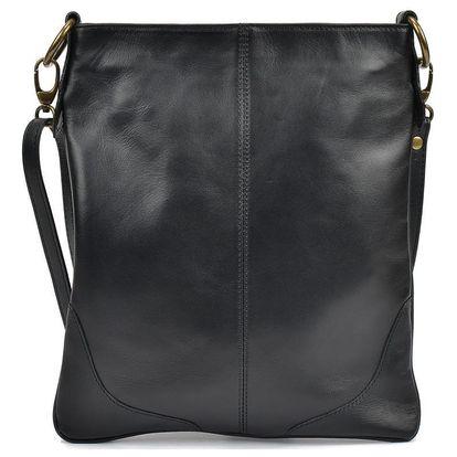 Černá kožená kabelka Mangotti Bags Marisa