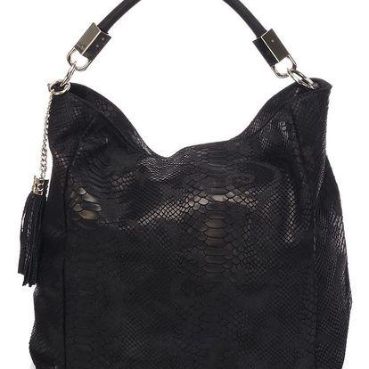 Kožená kabelka Italia, černá
