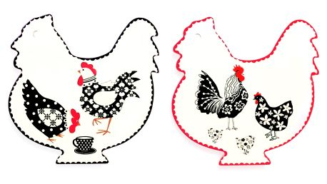 Sada 2 tácků na čajové sáčky Villa d'Este Bianco Gallina