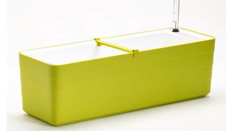 Zeleno-bílý samozavlažovací truhlík Plastia Berberis , délka78 cm