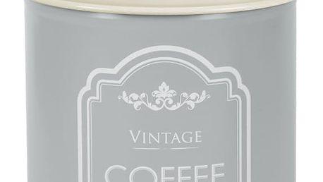 Šedá plechová dóza na kávu Ego Dekor