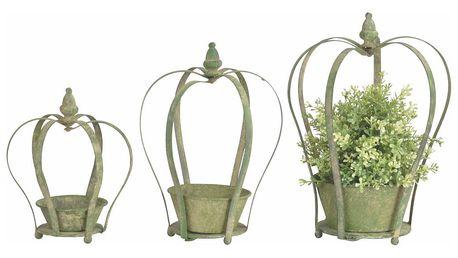 Sada 3 kovových květináčů s popínavou konstrukcí Esschert Design