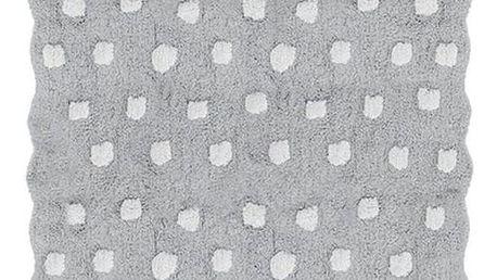 Šedý dětský ručně vyrobený koberec Tanuki Dots, 120x160cm