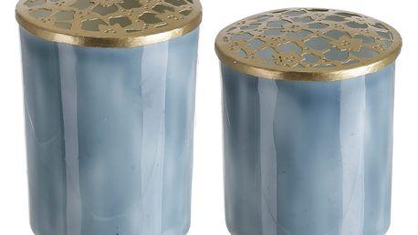Sada 2 modrých dekorativních váz A Simple Mess Blomst