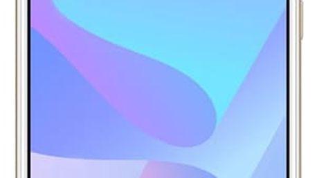 Mobilní telefon Huawei Y6 Prime 2018 Dual SIM (SP-Y6P18DSGOM) zlatý SIM karta T-Mobile 200Kč Twist Online Internet + Powerbank Forever 10000 mAh 2xUSB šedá/bílá + Kryt na mobil Huawei Y6 Prime (2018) průhledný v hodnotě 998 Kč