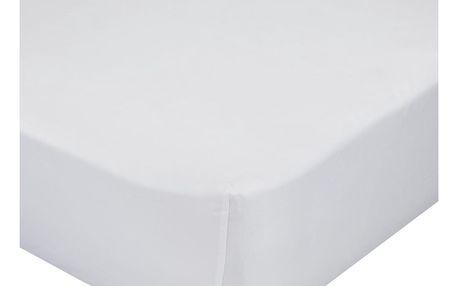 Bílé elastické prostěradlo z čisté bavlny Happynois, 90 x 200 cm