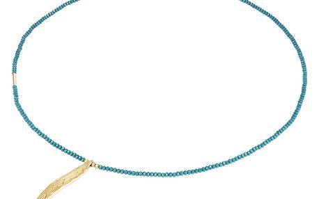 Tyrkysový dámský náhrdelník Tassioni Feather