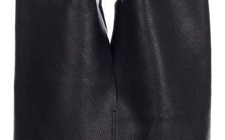 Černá kožená kabelka Giulia Massari Laurette