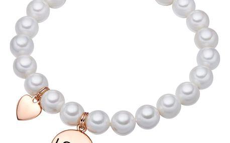 Bílý perlový náramek Pearls of London Love,19 cm