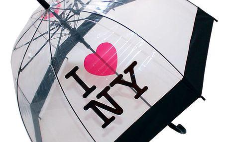 Transparentní deštník I Love New York