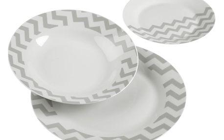 18dílný set talířů z porcelánu VERSA Geometrico