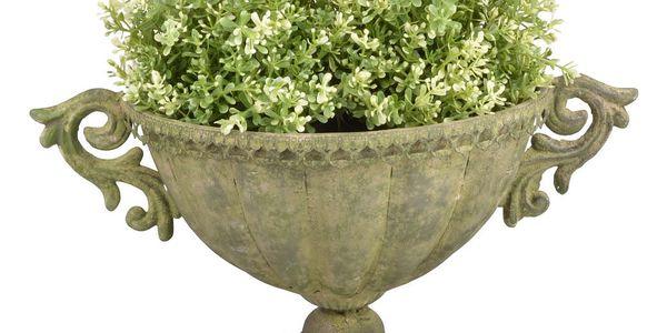 Kovová široká váza na květiny Esschert Design