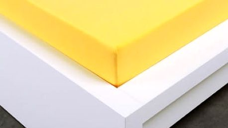 XPOSE ® Jersey prostěradlo Exclusive dvoulůžko - žlutá 200x220 cm
