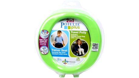 POTETTE PLUS 2v1 Cestovní nočník / redukce na WC - limetková zelená/tm.modrá