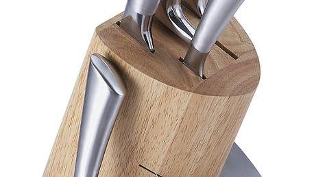 Set 5 nožů a dřevěného bloku Bergner Reliant