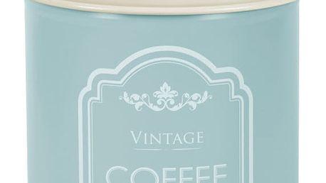 Modrá plechová dóza na kávu Ego Dekor