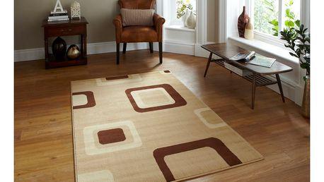 Béžový koberec Think Rugs Diamond, 80x140cm