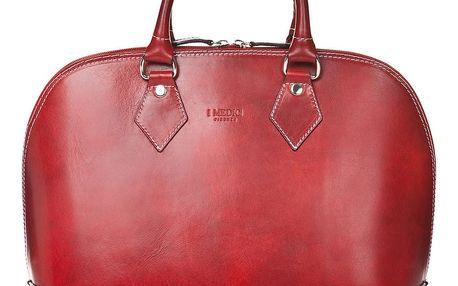 Červená kožená dámská kabelka Medici of Florence Rosalia