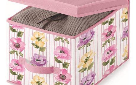 Růžový úložný box Cosatto Beauty, šířka30cm
