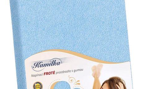 Bellatex Froté prostěradlo Kamilka světle modrá, 180 x 200 cm